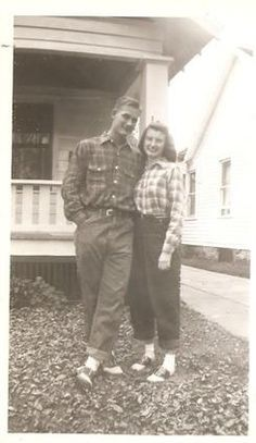 1940s couple - Bobby socks and saddle shoes