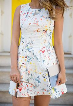 Love the idea of this PAINT SPLATTER DRESS