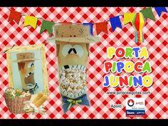 DIY PORTA-PIPOCA JUNINO - YouTube