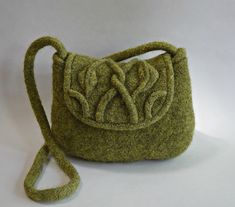 Ravelry: Leaf and Vine Felted Purse pattern by Cindy Pilon