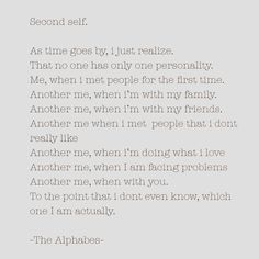 Second Self   #thealphabes