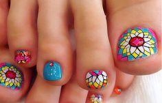 Diseños para uñas de los pies, diseños para uñas delos pies. Clic Follow,  #manicuras #unhas #uñasfinas