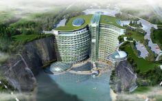 5 Outrageous SUPER LUXURY Hotels Under Construction — Shimao Wonderland Intercontinental //  Songjiang, Shanghai, China