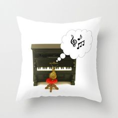 Piano Playing Snail 20X20 Pillow Cover Snail by machelspencePHOTO, $33.00