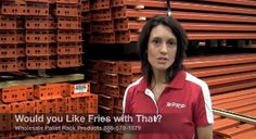 "#MaterialHandling Selling New Pallet Rack vs Used Pallet Rack via our video mini-series ""Would You Like Fries with That"" featuring Joshua Smith and Linda Anlauf. At WPRP Our Goal is to Help You, and in this video Linda will discuss important considerations when discussing the purchase of new versus used pallet rack with your customer. http://www.wprpwholesalepalletrack.com"
