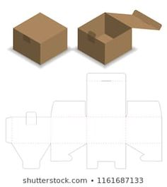 Box design box template design cut die packaging Vectors, Photos and PSD files Diy Gift Box Template, Box Packaging Templates, Paper Box Template, Box Templates Printable Free, Packaging Design Box, Origami Templates, Bag Packaging, Cosmetic Packaging, Diy Paper