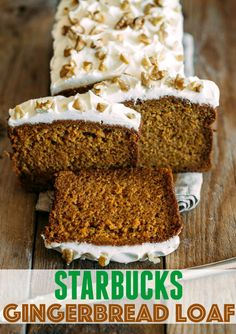 Copycat Starbucks Gingerbread Loaf with Cream Cheese Frosting | The Country Cook | Bloglovin'