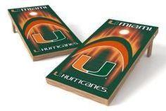Miami Hurricanes Single Cornhole Board - Arch