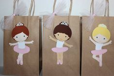 Ballerina Party Favor Bags by CelebrationGoods on Etsy
