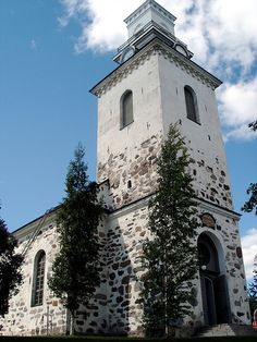 Kuopio cathedral. Walked past daily on the way to the tori. Statue of Snellman in park area