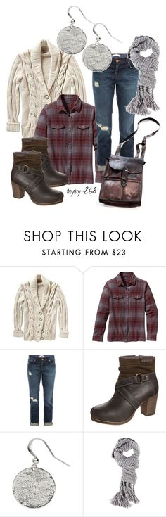 """""""These Boots 3"""" by taytay-268 ❤ liked on Polyvore featuring Patagonia, J Brand, TOM TAILOR, Mandula, Witchery, plaid, ankle boots, cable knit sweaters, buckle boots and distressed denim"""