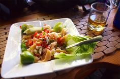 Succulent and super-fresh conch salad at Bugaloo's Conch Crawl in Provo, Turks & Caicos.