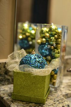 Christmas decor idea || display larger ornaments in their own individual box