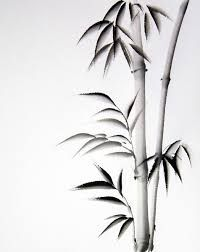 Image result for bamboo painting black and white