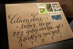 Amazing way to address an envelope. However time-consuming.