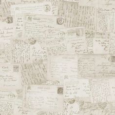 Quirky Postcards Neutral Wallpaper POB-010-01-5 Ideco Home for GranDeco