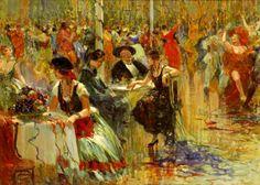 Baile de Carnaval, c. 1930 Bigio Gerardenghi (Itália, 1876 -Brasil, 1957) óleo sobre tela, 54 x 75 cm  -