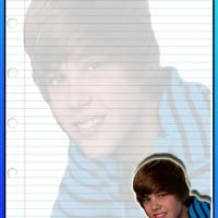 Blue Justin Bieber Stationary
