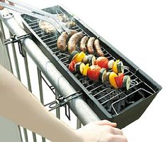 BBQ grill for your balcony / Geländer-Grill
