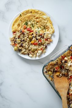 Mediterran gebackenes Quinoa Fried Rice, Risotto, Fries, Oatmeal, Clean Eating, Dinner Recipes, Healthy Recipes, Healthy Food, Nasi Goreng
