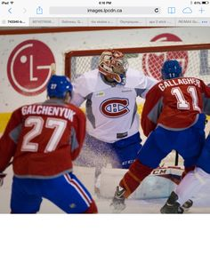 Brandon Gallagher and Alex galchenyuk at practice Montreal Canadiens, Ice Hockey, Nhl, Skate, Sports, Boys, Hs Sports, Baby Boys, Children