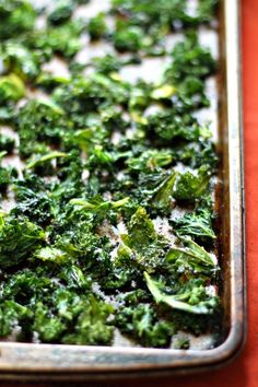 Curried Kale Chips - fresh kale, olive oil, curry powder, sugar (would omit or use stevia), sea salt