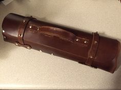 Custom, hand-made leather knife rolls! Follow the link to get yours!