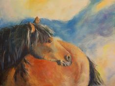 """Where ART Lives Gallery Artists Group Blog: Original Equine Painting """"THE-WILD-ONE-2"""" by Colorado Artist Nancee Jean Busse"""