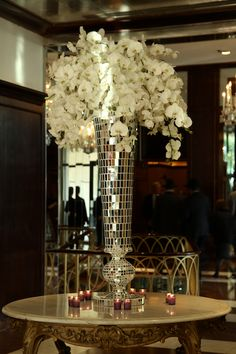 Mosaic Mirrored Vase | Luxe Event Rentals LLC