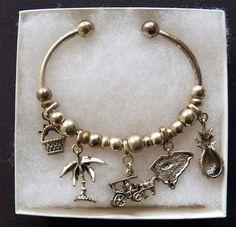 $4.00 - Silvertone Charm Bracelet (1517-28 BRAC) fashion, jewelry #Unknown #OpenCharm