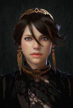 Fantasy Women, Fantasy Rpg, Medieval Fantasy, Fantasy Girl, Fantasy Artwork, Dnd Characters, Fantasy Characters, Female Characters, Character Portraits