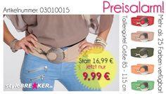 Taillengürtel stark reduziert von 16,99 EUR auf 9,99 EUR - nur für kurze Zeit unter https://www.stylebreaker.de/guertel/stylebreaker-breiter-damen-guertel-taillenguertel-hueftguertel-mit-grosser-schnalle-03010015/a-279/