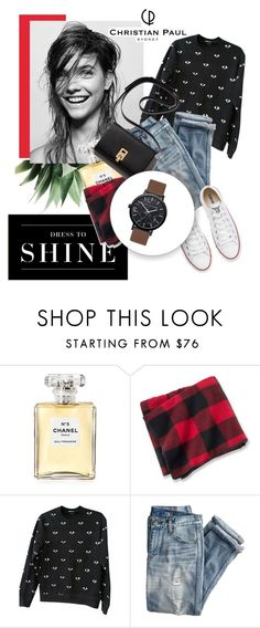 """""""Shine"""" by nastya-d ❤ liked on Polyvore featuring Levi's, Chanel, Woolrich, Kenzo, J.Crew, Converse and christianpaul"""