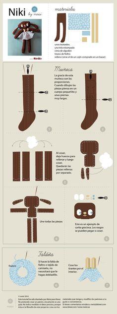 tutorial muñeco con leotardo