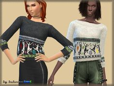 The Sims Resource: Sweater Little Men by Bukovka • Sims 4 Downloads