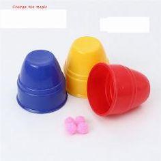 [ $22 OFF ] 50 Set 3X2.5X1.5Cm  Magic Props Strange 3Pcs=1 Set New Toy Cups Magic Ball Special