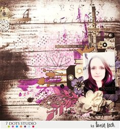 layout with Writer's Block collection (7 Dots Studio) by Tusia Lech
