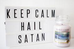 Keep calm and hail satan modern witch lightbox