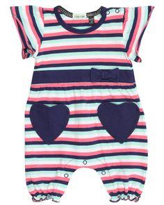 Lilly & Sid Baby Girl Heart Pocket Romper  > http://hofra.sr/xkPdg