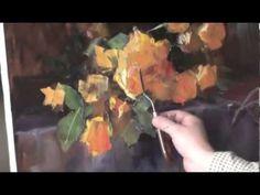 ▶ Букет желтых роз.Игорь Сахаров . Уроки живописи. - YouTube