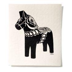 Svart Dalahäst på Nordic Design Collective Scandinavian, Horses, Interior Design, Kitchen Accessories, Collections, Toys, Shop, Christmas, Nest Design