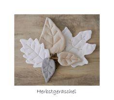 Deko-Objekte - Leinen Herbst - Laub - Blatt Herbstdeko Stoffblatt - ein Designerstück von uggla-deko bei DaWanda
