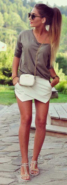 Khaki + White