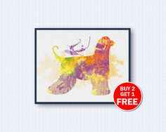 Afghan Hound Poster, Dog Watercolor, Dog Poster, Afghan Hound Watercolor, Watercolor Art, Animal, Kinder, Wall Decor, Home Decor by TheWoodenKat on Etsy