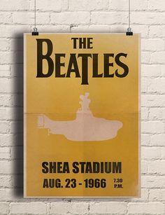 The Beatles Concert Poster, The Beatles Art print, Concert Poster, Gig Poster, Home Decor Wall Art