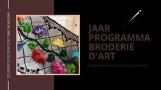 Jaarprogramma Broderie d'Art Tambour Embroidery, Couture Embroidery, Lesage, Embroidery Techniques, Beading, Delicate, Art, Art Background, Beads