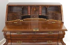 Walnut Burl and Rosewood Claw Foot Drop Front Desk, circa 1900 3