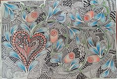 Judy's Zentangle Creations: Add some colour to your Designs
