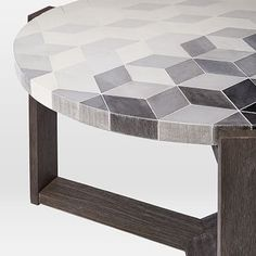 Mosaic Tiled Coffee Table - Isometric Concrete #westelm