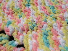 Pitter Patter Baby Blanket Crochet Pattern - OkieGirlBling'n'Things Bernat Baby Blanket, Blanket Yarn, Baby Blanket Crochet, Crochet Blanket Patterns, Baby Patterns, Crochet Afghans, Fluffy Blankets, Baby Blankets, Baby Afghans